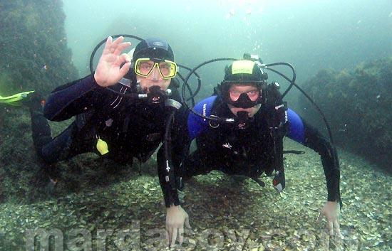 Обучение дайвингу в Крыму в открытом море