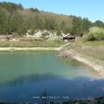 Озеро у монастыря (вид на баньку)